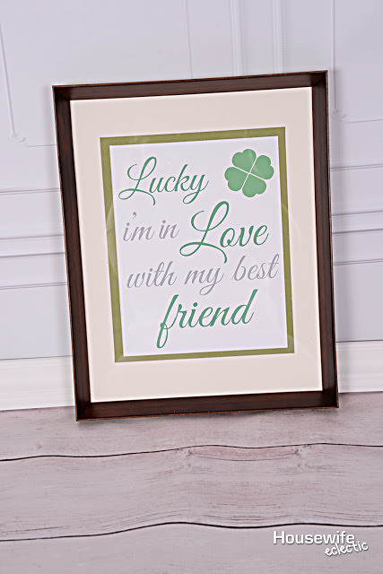 Lucky I'm in Love with My Best Friend Free Printable 2