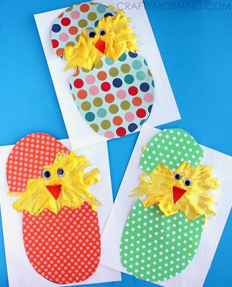 hatching puffy paint chicks