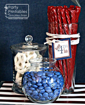 4th of july candy centerpieces