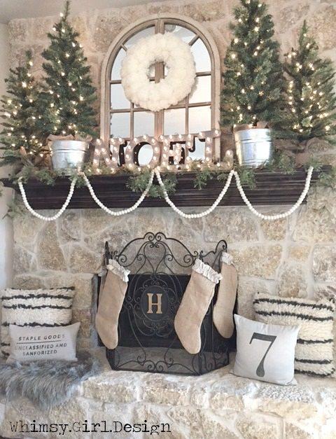 whimsy Christmas Mantel