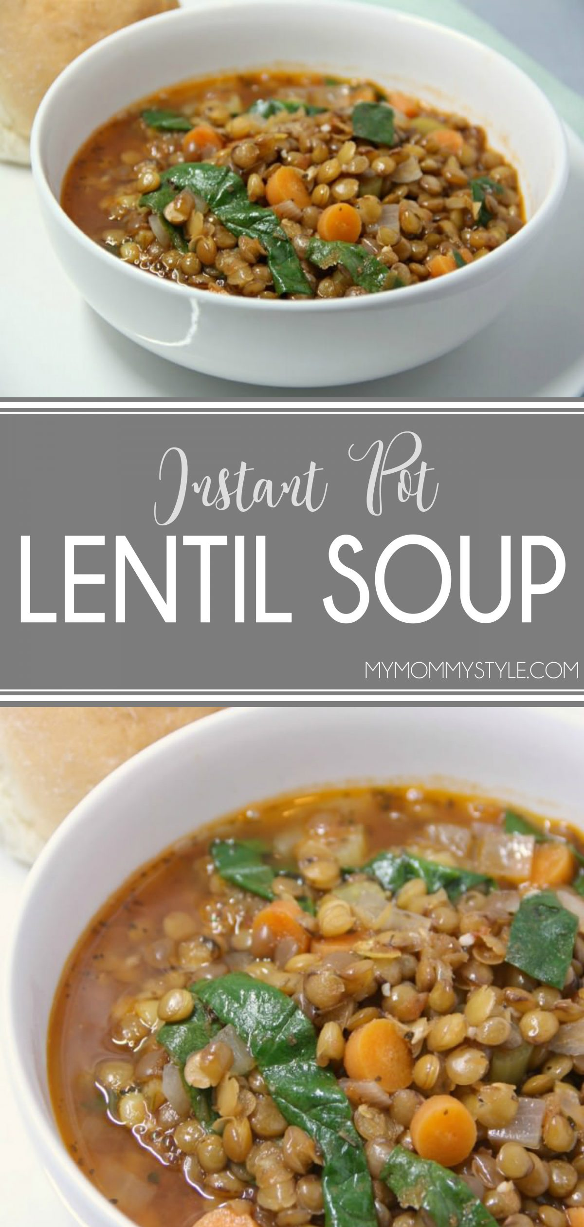 This recipe for Instant Pot Lentil Soup is amazing! The recipe was developed years ago and converted to be made in the Instant Pot for a quick weeknight meal. via @mymommystyle