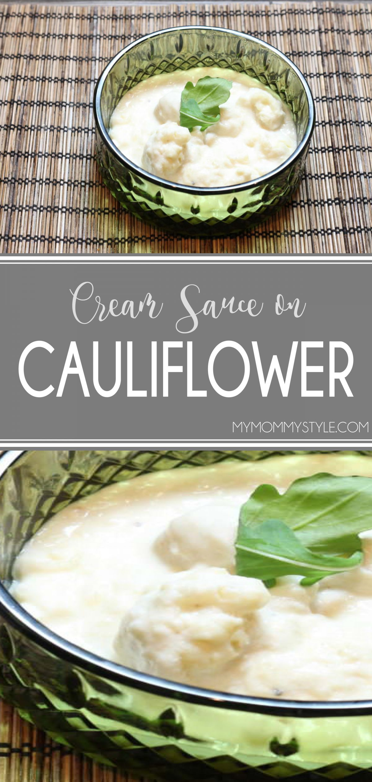 Dress up your next side dish with this Cauliflower Cream Sauce. It's smooth creaminess is perfect to serve with your veggies and holiday meals. #cauliflowercreamsauce #smoothcauliflower #creamsauce via @mymommystyle
