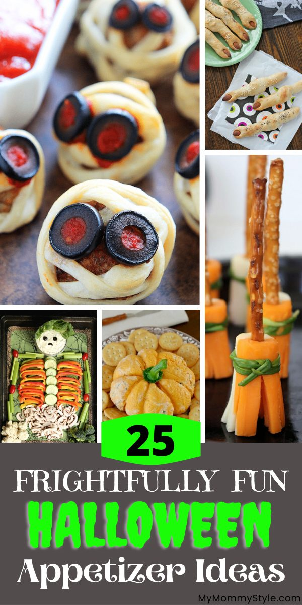 Halloween Appetizer collage