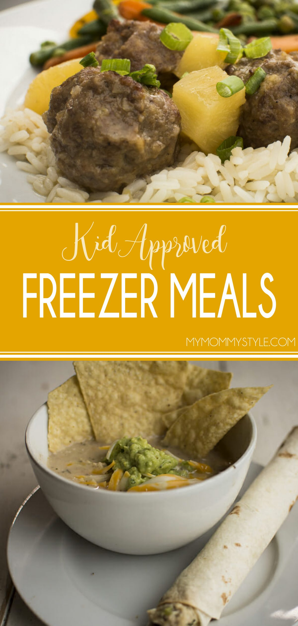 These 4 freezer meal recipes are all kid approved and will be a life-saver during the busy Back to School nights. via @mymommystyle