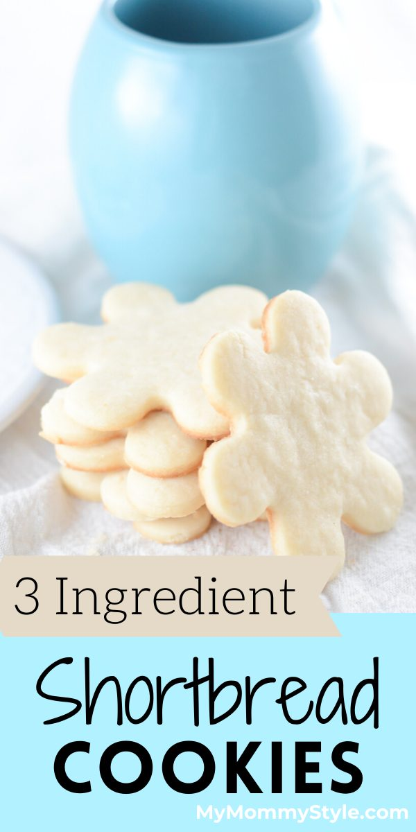 These 3 Ingredient Shortbread cookies are delicate, crisp and oh so buttery. This no chill, roll out cookie recipe is easy to make and bakes quickly.  via @mymommystyle