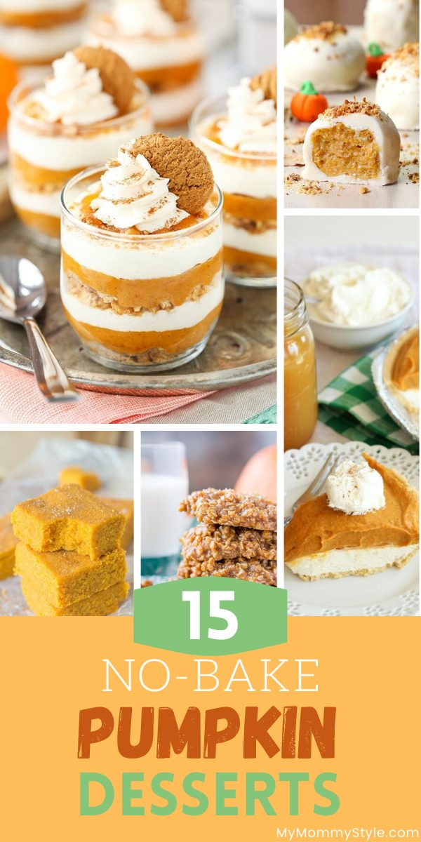 A round up of our favorite no bake pumpkin desserts. These are all easy and delicious recipes, we're sure you'll find a new favorite! via @mymommystyle