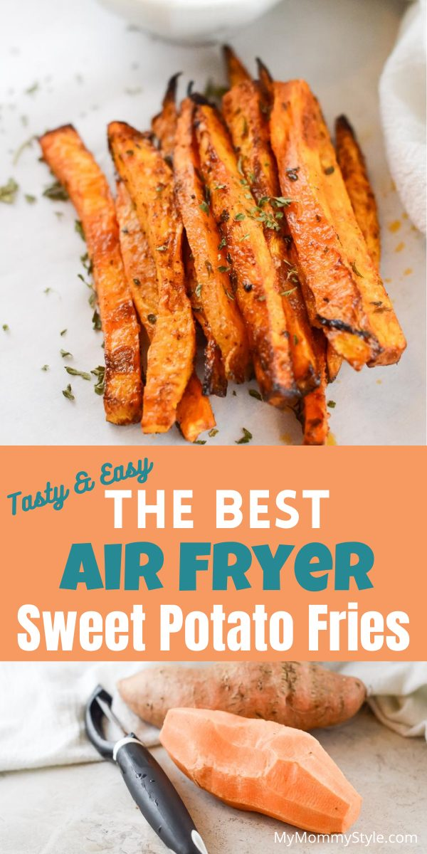 These Air Fryer Sweet Potato Fries have a light crisp on the outside and a soft, inviting center. This snack has a touch of sweetness and a hint of spice! via @mymommystyle