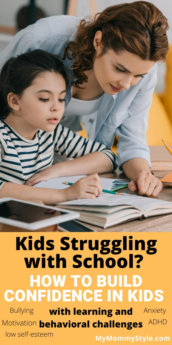Learn how to build confidence in kids who struggle in school with learning and behavior challenges. Create confidence builders, not breakers. #howtobuildconfidenceinkids via @mymommystyle