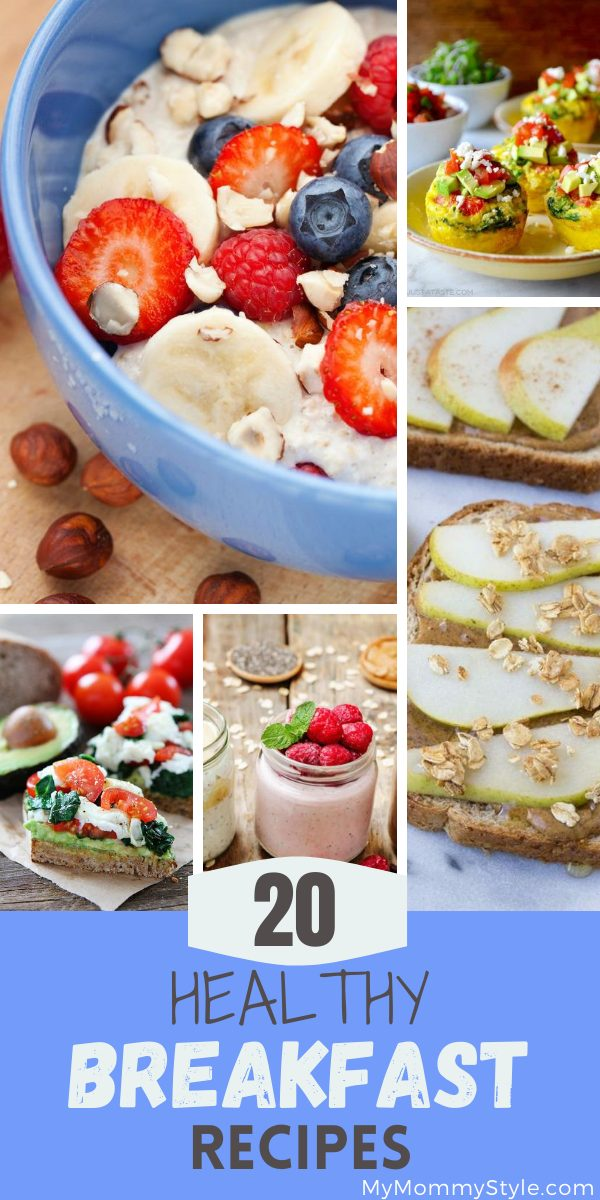 There is sure to be a healthy breakfast recipe that will work for you in this roundup. Breakfast is so important and it doesn't have to take long to make! via @mymommystyle