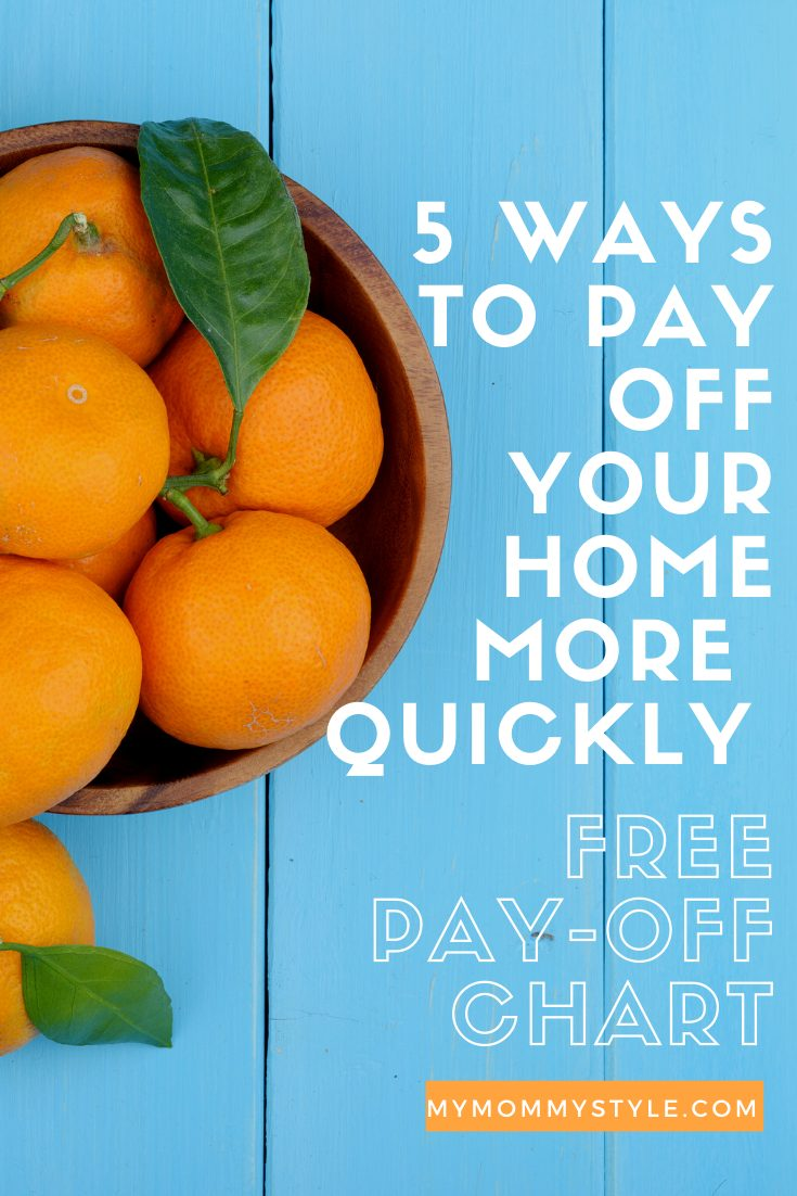 5 ways to pay off your home more quickly. You can reach the goals of paying off your home with these consistent steps! via @mymommystyle