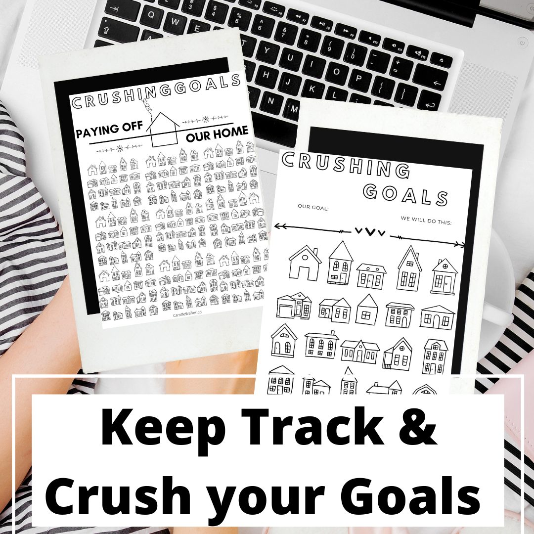 Grab these free printables to help you pay off your mortgage or save for your home more quickly. via @mymommystyle