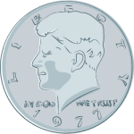 JFK Fifty Cents Coin