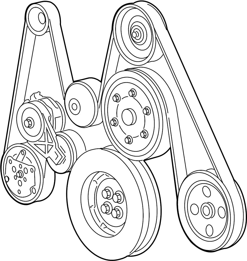 Dodge Ram Belt Serpentine Serpentine Belt