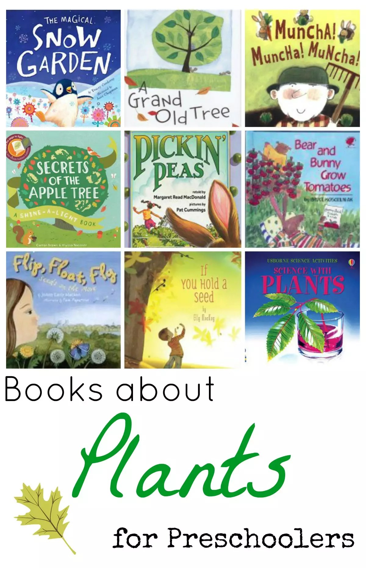 Books About Plants For Preschoolers
