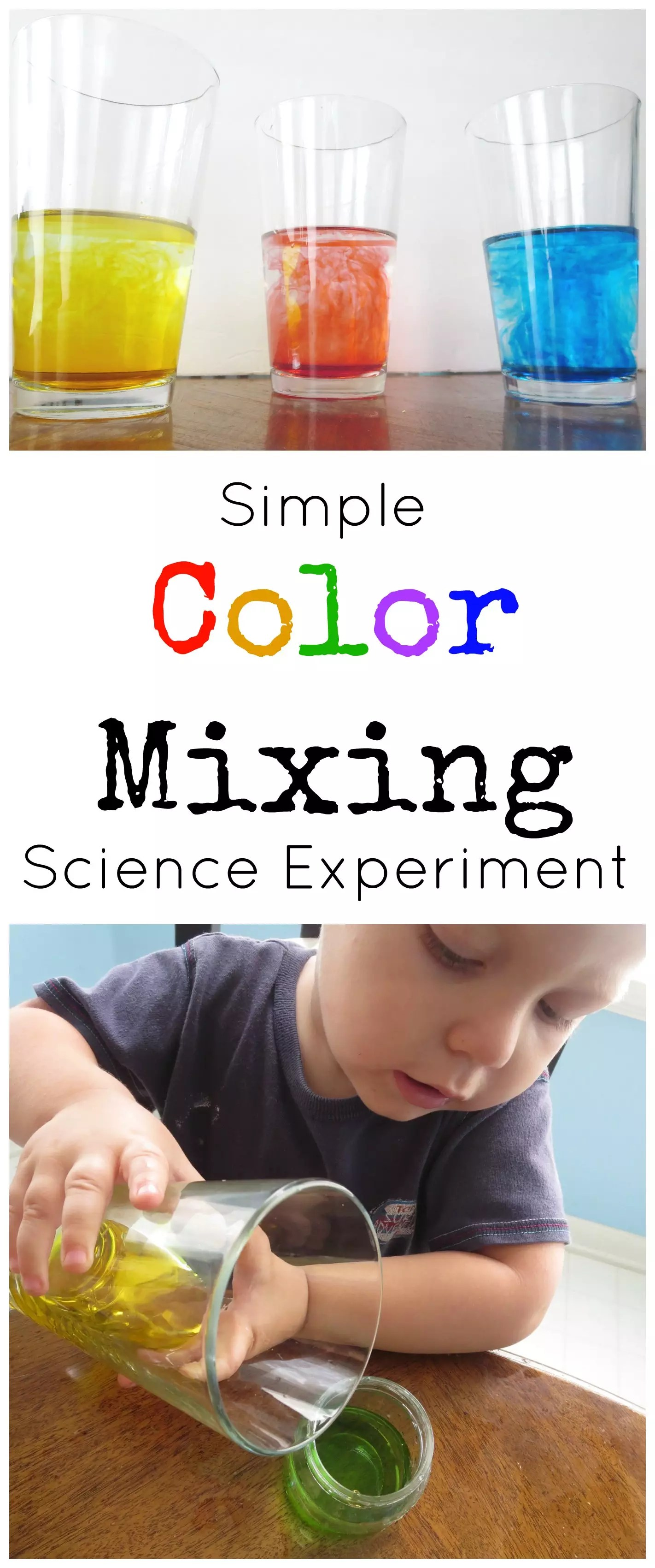 Simple Color Mixing Science Experiment For Preschoolers