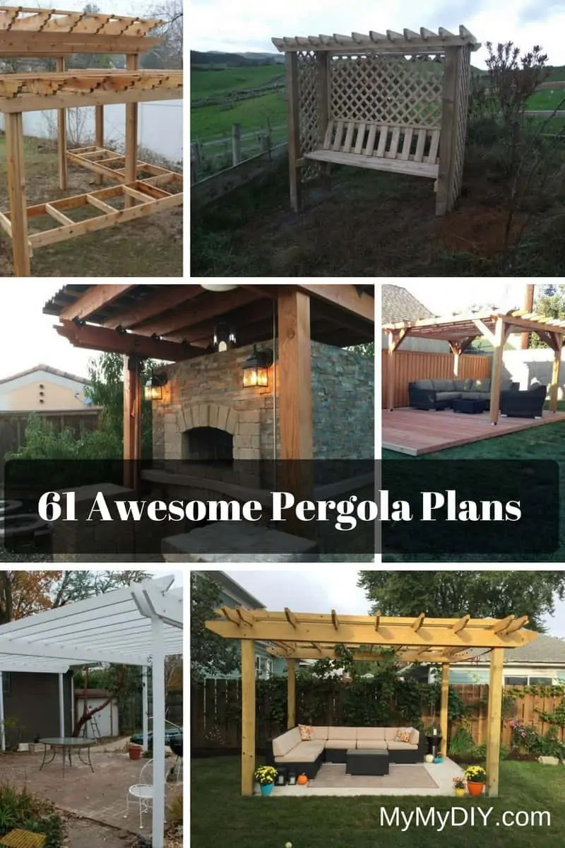 61 Pergola Plan Designs Ideas Free Mymydiy Inspiring