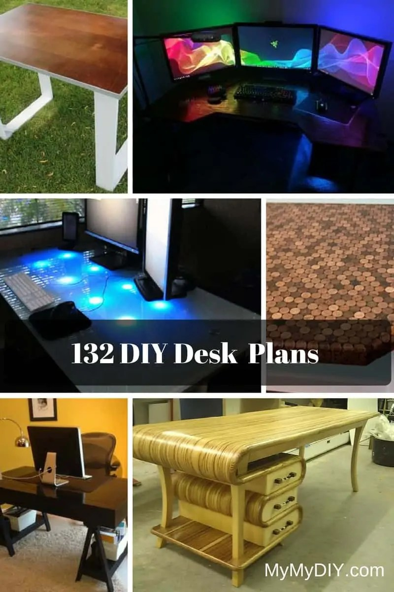 132 Diy Desk Plans You Ll Love Mymydiy Inspiring Diy