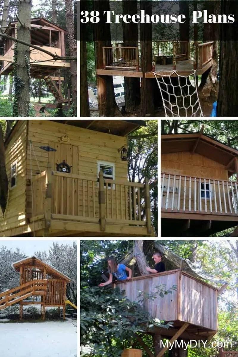 38 Brilliant Diy Tree House Plans Free Mymydiy Inspiring Diy Projects