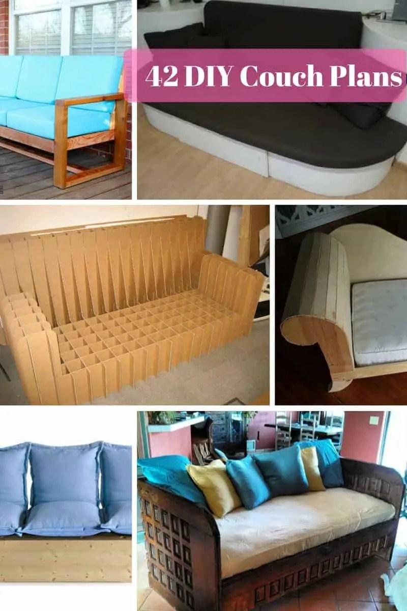 42 Diy Sofa Plans Free Instructions Mymydiy Inspiring