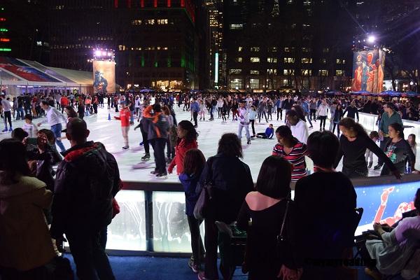 patinoire à new york bryant park