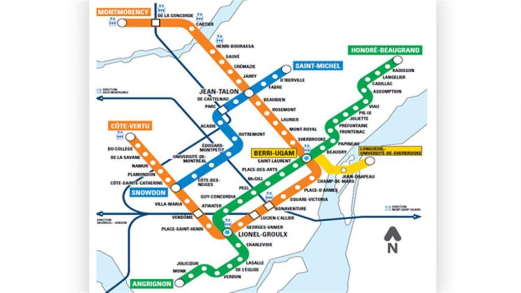 Plan métro atwater lionel groulx