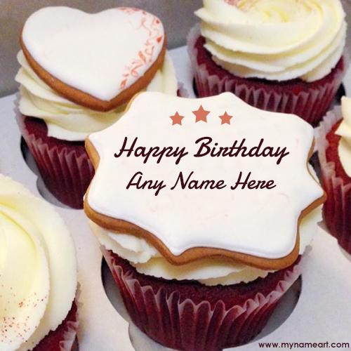 Stylish Name Edit On Happy Birthday Cake Image