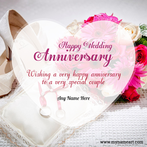 Wedding Anniversary Celebration Image With Name