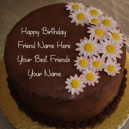 Friend Birthday Wishes Name Cake Photo Edit Online My Name Pix Cards
