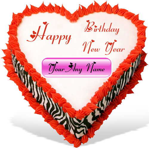 Happy New Year Birthday Wishes Beautiful Cake Image Online Edit My Name Pix Cards