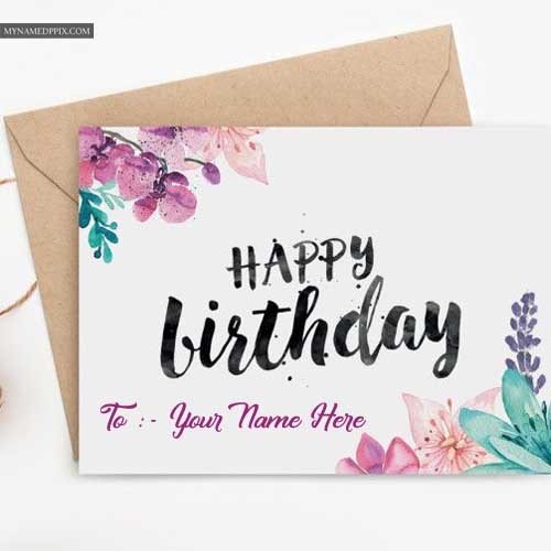 Happy Birthday Beautiful Design Card Brother Name Wishes Pictures My Name Pix Cards