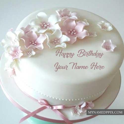 Write Sister Name Happy Birthday Rose Cake Image Send My Name Pix Cards