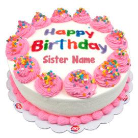 Sister Birthday Cakes My Name Pix Cards