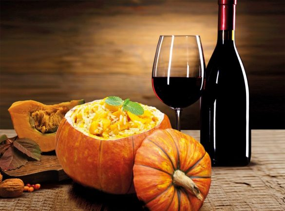 A recipe for autumn: Rice, Pumpkin and Barbera d'Asti