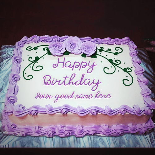 Birthday Cake With Name For Sister