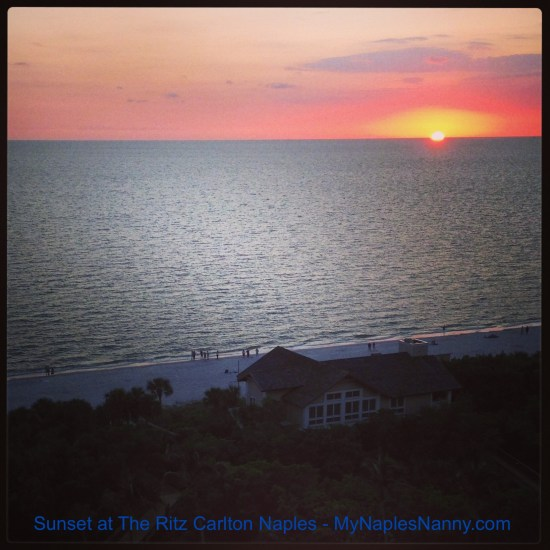 Naples Sunset at The Ritz Carlton Naples My Naples Nanny Provides the Best Vacation Resort Babysitting Services