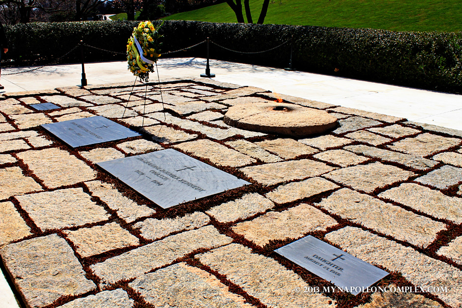 Grave of JFK and Jackie Kennedy Onassis