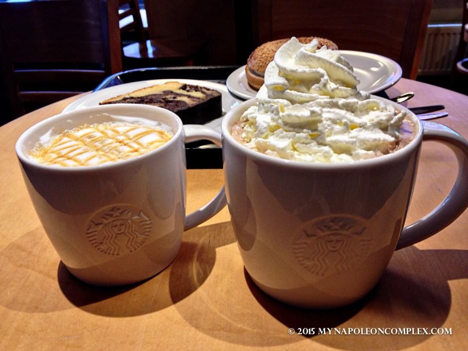 Picture of Caramel Macchiatto & Mocha at Starbucks