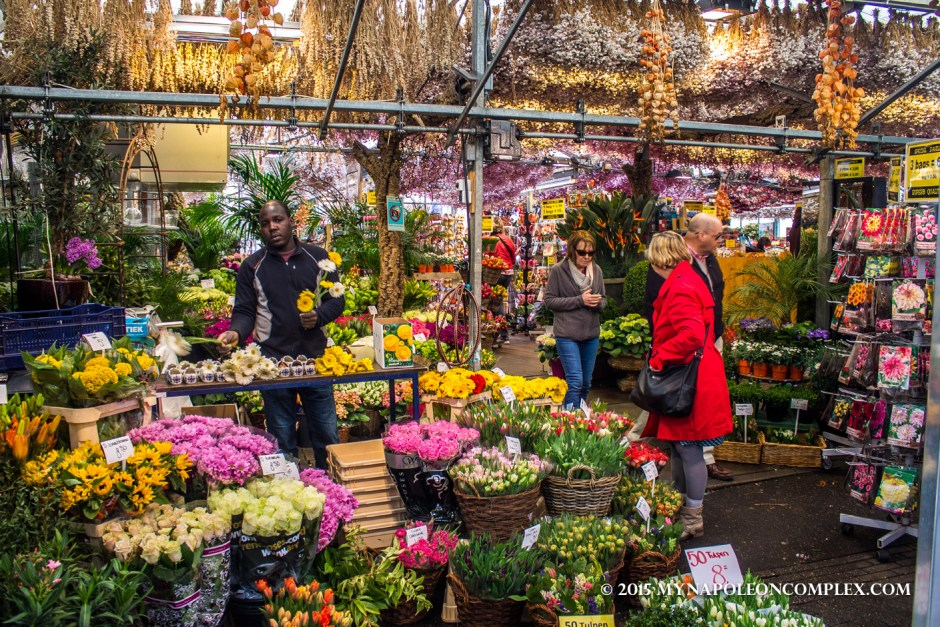 Picture of the Flower Market, Amsterdam.