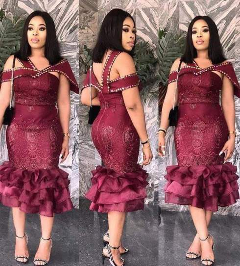 latest lace gown styles