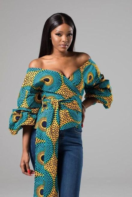 off shoulder ankara styles