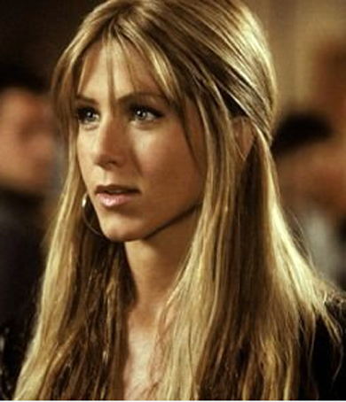 Jennifer Aniston with bangs.