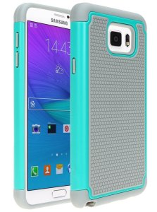 Galaxy Note 5 Case, Cafeleo 2 in 1 Shield Case 2-Piece Style Slim Thin Shockproof Case Hard Rugged Ultra Protective Back Rubber Cover Footba