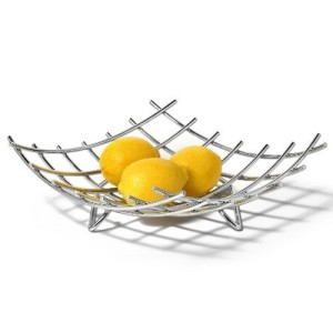 Spectrum 83070 Dunbar Grid Fruit Bowl, Chrome