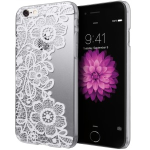 iPhone 6S Case, Cimo [Floral] Apple iPhone 6S Case Clear Design Paisley Flower Pattern Premium ULTRA SLIM Hard Cover for Apple iPhone 6S 6 - White