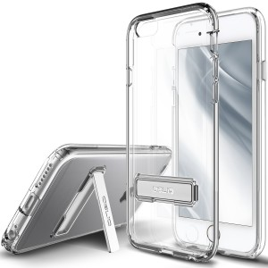 iPhone 6S Plus Case, OBLIQ [Naked Shield][Clear][Metal Kickstand] Thin Slim Fit Crystal Clear Case + TPU Bumper Armor Scratch Resist Protection for