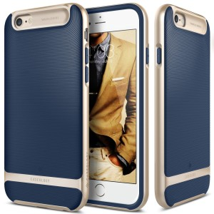iPhone 6S Plus case, Caseology® [Wavelength Series] [Navy Blue] Textured Pattern Grip Cover [Shock Proof] for Apple iPhone 6S Plus (2015) & iPhone
