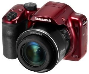 Samsung WB1100F 16.2MP CCD Smart WiFi & NFC Digital Camera with 35x Optical Zoom, 3.0 LCD and 720p HD Video (Red) (Cert