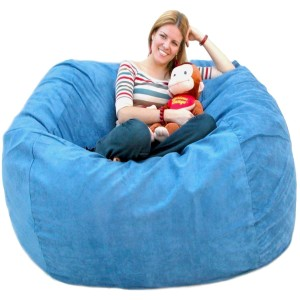 Cozy Sack 5-Feet Bean Bag Chair, Large, Sky Blue