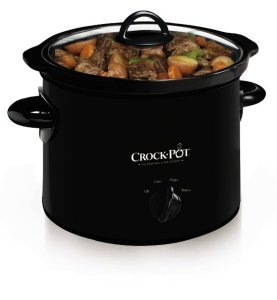 Crock-Pot SCR300-B Manual Slow Cooker, 3 Quart
