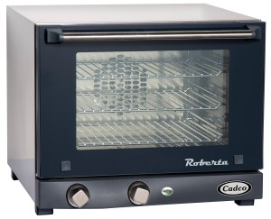 Cadco OV-003 Compact Quarter Size Convection Oven with Manual Controls, 120-Volt1450-Watt, StainlessBlack